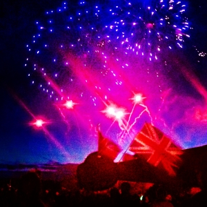 Fireworks at Highclere